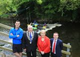 White water Opporuntites on the Shannon Erne Blueway with members of Cavan Canoe Club and Karl Henry, Cathoirleach Paddy Smith, Minister Heather Humphreys and Garret Mc Grath Waterways Ireland