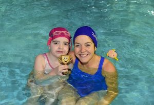 "Maya and her  Mum Suzie Allen  ~ with WaterBabies ""Little HerosAward winner 2017"" © Michael Chester + 353 87 8072295 info@chester.ie"