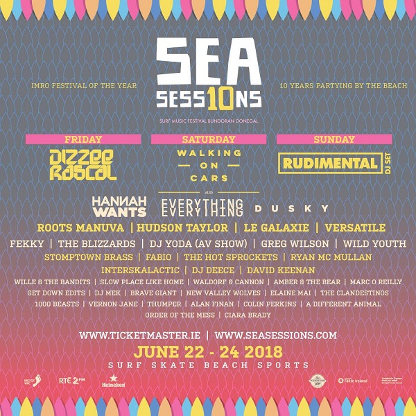 SEA SESSIONS 2018 THE BIGGEST BEACH PARTY WEEKEND OF THE YEAR ANNOUNCES BAREFOOT BEACH SPORTS, CLEAN COASTS SURF COMPETITION & THE #2MINUTESTREETCLEAN BMX AND SKATE JAM